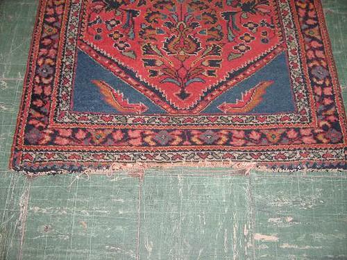 before rug binding