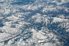 Looking Down, Way Down (AH in Pgh) Tags: usa snow mountains west snowy aerialview