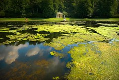 Algae (gms) Tags: park uk red england abbey statue pond yorkshire algae fountains summerhouse studley biofuel