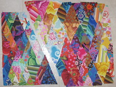 Diamond Fassetts - DQS4 WIP (WendysKnitch) Tags: diamonds doll quilt swap patchwork kaffe fassett dqs4