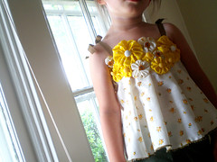 Vintage Curtain Cami (flarbort) Tags: kids curtain clothes cami camisole fabricflowers