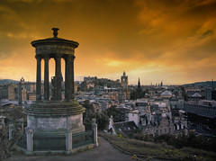 My take on the cliched Calton hill Edinburgh shot (Semi-detached) Tags: street city panorama monument grass station june st scott james scotland edinburgh centre hill hills vista princes acropolis 2008 auld viewpoint lothians waverley calton ecosse reekie aplusphoto