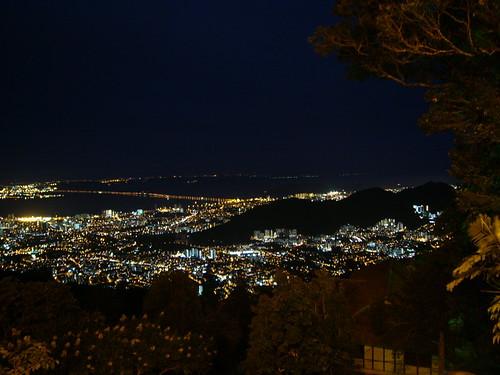 view from penang hill at night
