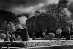 corner house in imma (Dave Road Records) Tags: trees ireland blackandwhite museum architecture infrared kilmainham imma