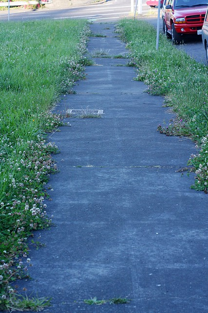 Sidewalk, SW Grant St.