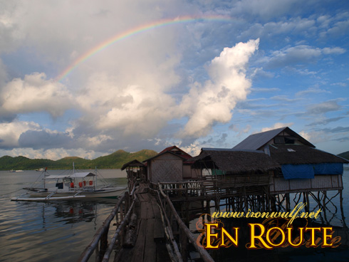 Rainbow over our lodging