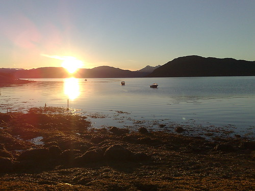 Midnight sun in Nordland