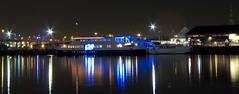 panoramic docks (rhoftonphoto) Tags: city panorama water night docks reflections melbourne panoramic docklands