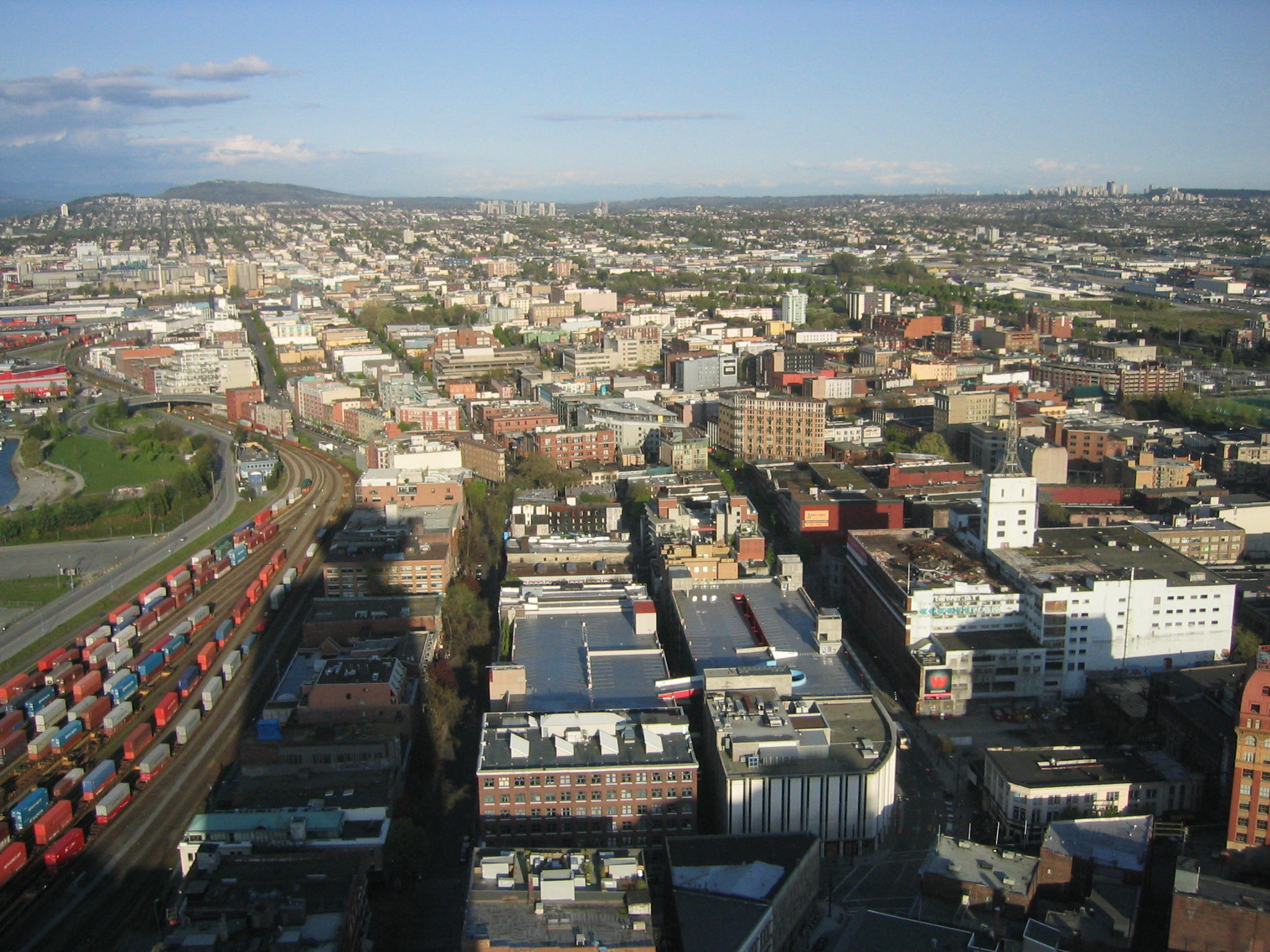 Aerial view of Gastown