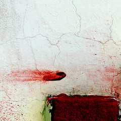 Comet (daliborlev) Tags: red abstract texture wall turkey square urbandecay crack cracks mundanedetail 500x500 pasinler trashbit streakofpaint haphazartsquare