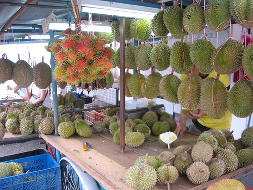 Durian stall in Penang