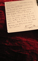 The Poet Writes Back, note from Gary Soto, June 2008, all photos © 2008 by QuoinMonkey. All rights reserved.
