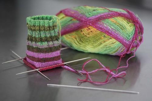 actual knitting!