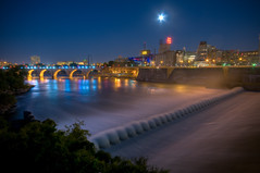 Energy Park View of Stone Arch (Greg Benz Photography) Tags: minnesota night photoshop river mississippi photography nikon minneapolis mississippiriver twincities hdr gettyimages goldmedalflour guthrietheater stonearchbridge stanthonyfalls millcitymuseum photomatix sigma1020 nighthdr anawesomeshot upperdam carbonsilver gregbenz gbenz minneapolishdr representedbygettyroyaltyfree