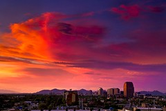 When Red Gets Confused (jimhankey) Tags: sunset red summer arizona sky orange cloud sun mountain storm mountains phoenix weather skyline clouds skyscraper landscape gold skyscrapers desert cloudy dusk scenic naturallight sunny stormy uptown valley citylights copper vista orangesky glowing thunderstorm redsky goldensunset 2008 dramaticsky beautifulclouds beautifulview sunray desertview eveninglight phoenixarizona stormyweather beautifulscenery afternoonlight redsunset phoenixaz cumulous scenicview desertmountain maricopacounty goldensky cumulousclouds cumulouscloud nikond200 phoenixskyline unusuallight loweringsky glowingcloud loomingcloud dearflickrfriend uptownphoenix jimhankey arizonasummer arizonaweather phoenixweather phoenixariz