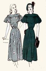 B4421 Gallery (sandritocat) Tags: vintage international glam size12 sewingpattern vintage40s balloonsleeves teamesst capeletsleeves bust30 butterick4421 dropshoulderyoke