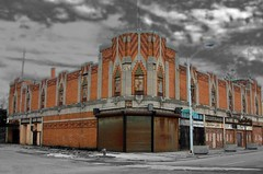 Another take on the abandoned Vanity Ballroom in Detroit (DetroitDerek Photography ( ALL RIGHTS RESERVED )) Tags: abandoned architecture dance closed aztec empty urbandecay vanity detroit historic newport ballroom vacant theme artdeco jefferson venue mc5 bigband 1929 goodman dorsey ellington charlesagree cunninghamdrugstore