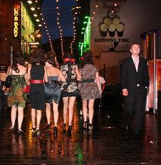 Reflections (hoohaaa) Tags: girls reflection rain night liverpool evening women 2008 capitalofculture matthewstreet