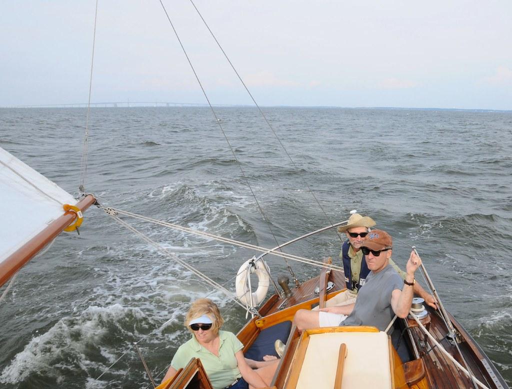 sailing on a choppy Chesapeake