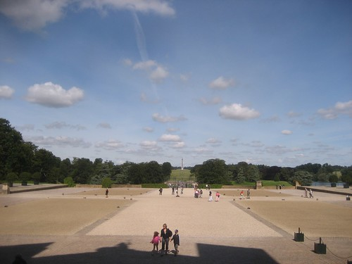 Looking toward the victory pillar at Blenheim Palace