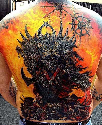 Tattoo Edition V I think that this picture is of a Chaos Space Marine from