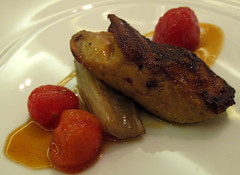 Foie Gras with Sweet & Sour Tomatoes