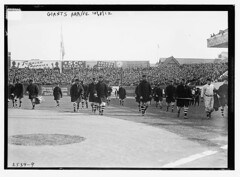 [New York Giants walk onto the field at the Polo Grounds [New York] prior to Game One of the 1912 World Series, October 8, 1912 (baseball)]  (LOC) (The Library of Congress) Tags: baseball libraryofcongress nl worldseries pologrounds nationalleague christymathewson johnmcgraw stripedsocks newyorkgiants sportingevent xmlns:dc=httppurlorgdcelements11 1912worldseries dc:identifier=httphdllocgovlocpnpggbain11752 newyorkbaseballgiants giantsarrive10512 turkishtrophiesad