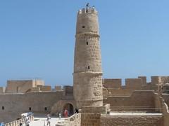 minaret at the ribat (cardbush) Tags: life africa set movie fort tunisia minaret brian tunis location python fortress monty monastir ribat skanes