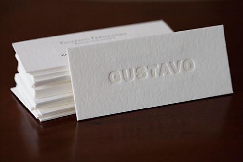 Gustavo Letterpress Business Cards