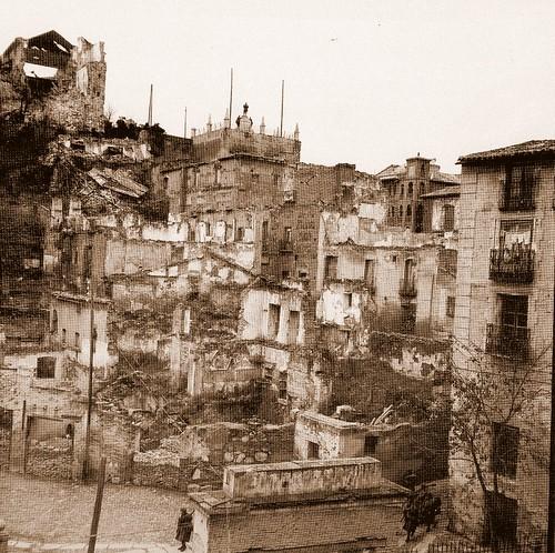 Restos de la Posada de la Sangre en la Guerra Civil española