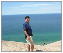 Quicken Loans employees team building - camping near the Sleeping Bear Sand Dunes!