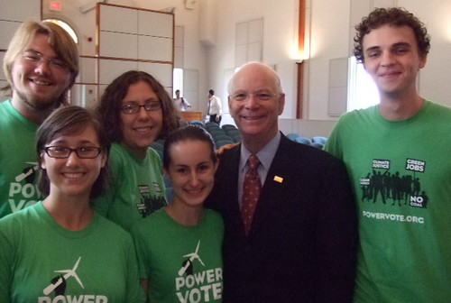 senator cardin at St.Mary's!