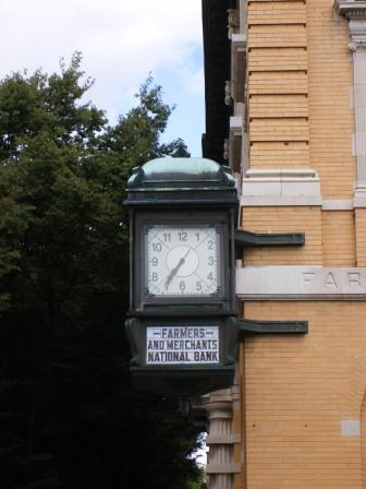 Old Bank Clock in Old Town Winchester