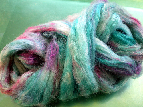 Papoose of Handpainted Silk Tussah Fiber (5)