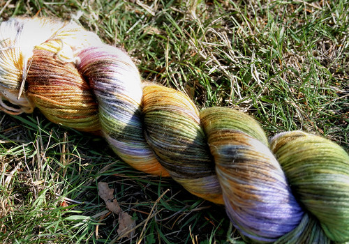"October Wool Dye for Ewe ""Taking the Kids trick or treating"""