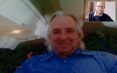 snapshot of iChat session with Rinaldo DiGiorgio in plane