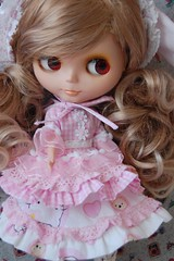 Pink Bunny Dress set