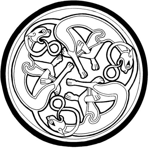 Celtic Hounds Circle by yvern99.