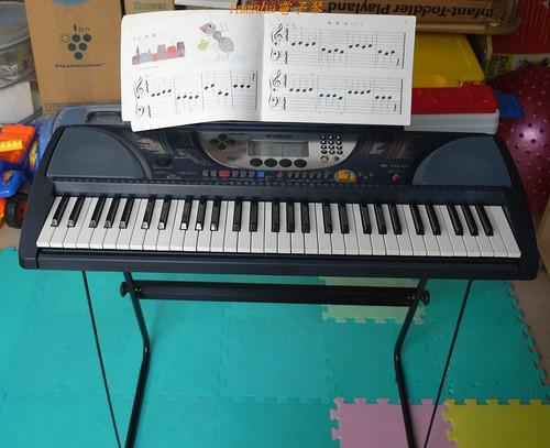 你拍攝的 Yamaha電子琴。