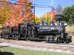 Shay #5, 100 years old and still running strong! (The Ghostcop) Tags: county old railroad trees red orange mountain west tree green fall colors beautiful yellow forest train gold virginia centennial antique scenic engine tourist steam wv shay locomotive years 100 cass pocahontas excursion geared climax bygone heisler