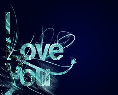 iloveyou blue (Studio Vais) Tags: life desktop blue light black love photoshop you iloveyou