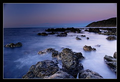 Eyesight Test (anthonyko) Tags: longexposure newzealand sunrise rocks wellington northisland owhirobay theesplanade sonyr1