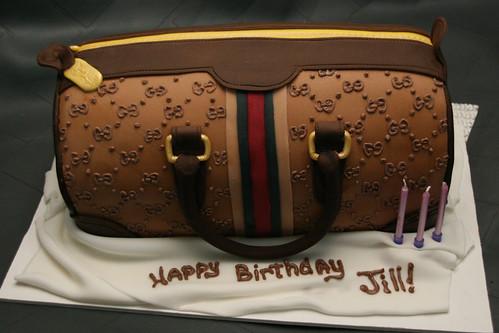 Jill's Gucci Bag Birthday Cake by Lucky Penny Cakes - 500 x 333  115kb  jpg