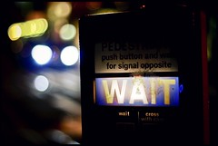 Wait (caravinagre) Tags: street uk inglaterra light england english cars night cross traffic unitedkingdom pedestrian zebra wait eastsussex lewes reinounido ingls crosswithcare