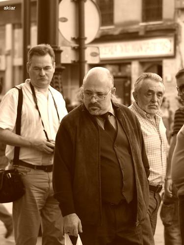 Observadores en Sevilla.