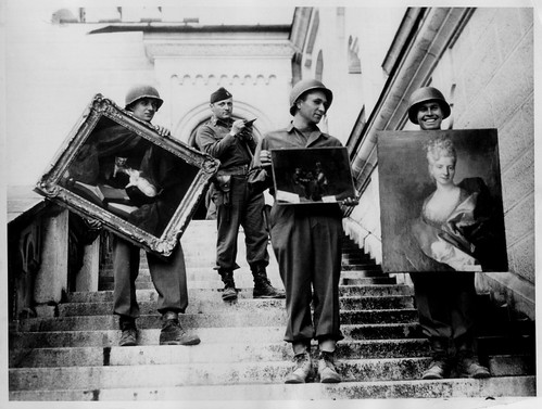 James Rorimer with Nazi-looted art