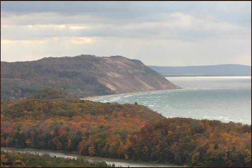 empire bluff, Lake Michigan and North Bar Lake in the foreground