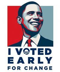El poster con el lema Vote