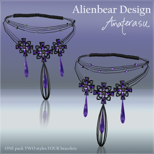 Dark Princess Amaterasu bracelets purple