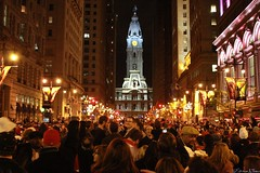 Phillies World Series Win on Broad Street (Harpo42) Tags: street party tower love philadelphia proud happy baseball cityhall historic together huge phillies philly fans cheer win 2008 celebrate champions broadstreet joyous worldseries mlb exuberant williampenn game5 october29 phans